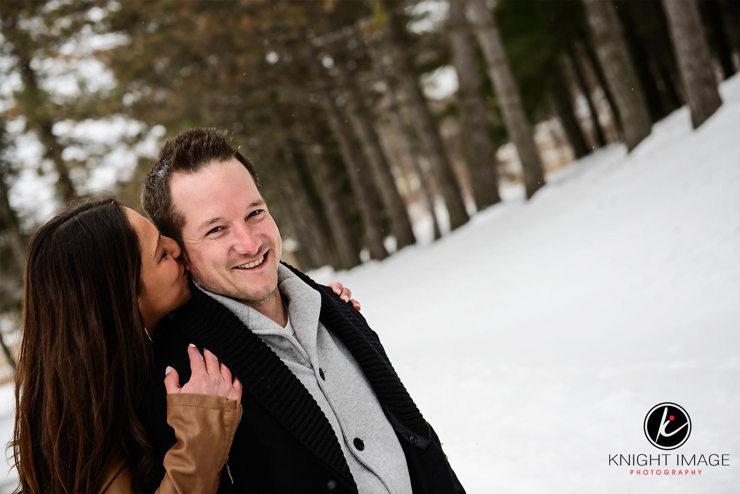 This is a Fairy Lake engagement photograph taken by a wedding photographer in Newmarket